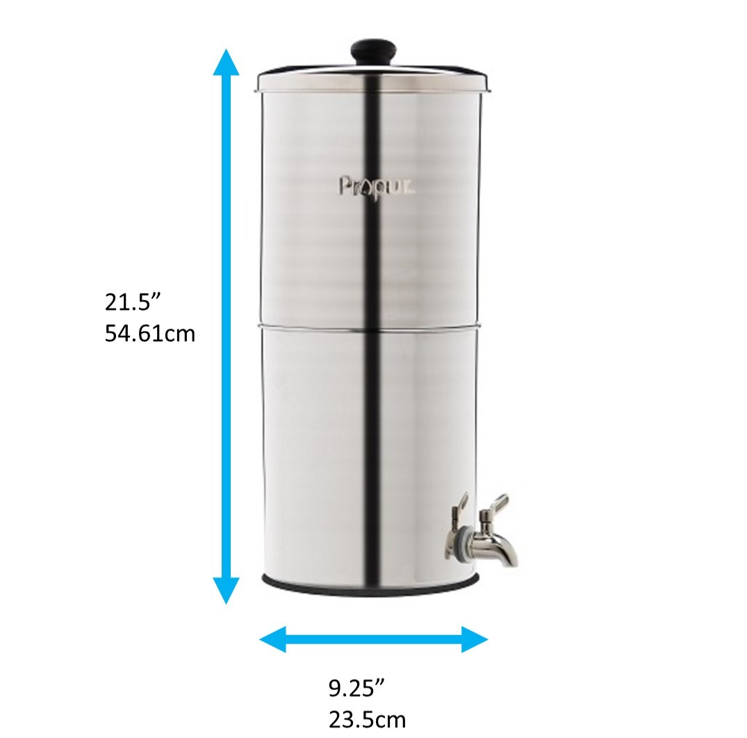 Natural water filter system Ceramic Stainless Steel Gravity Filter Jonathanfooteinfo Gravity Water Filters Making Natural Water Sources Safe To Drink