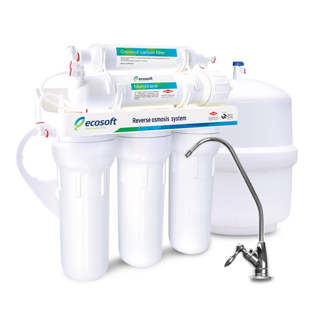Ecosoft 5 Stage Non-Pumped Reverse Osmosis System