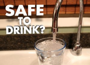 Safe to Drink Faucet Pouring Water in Glass