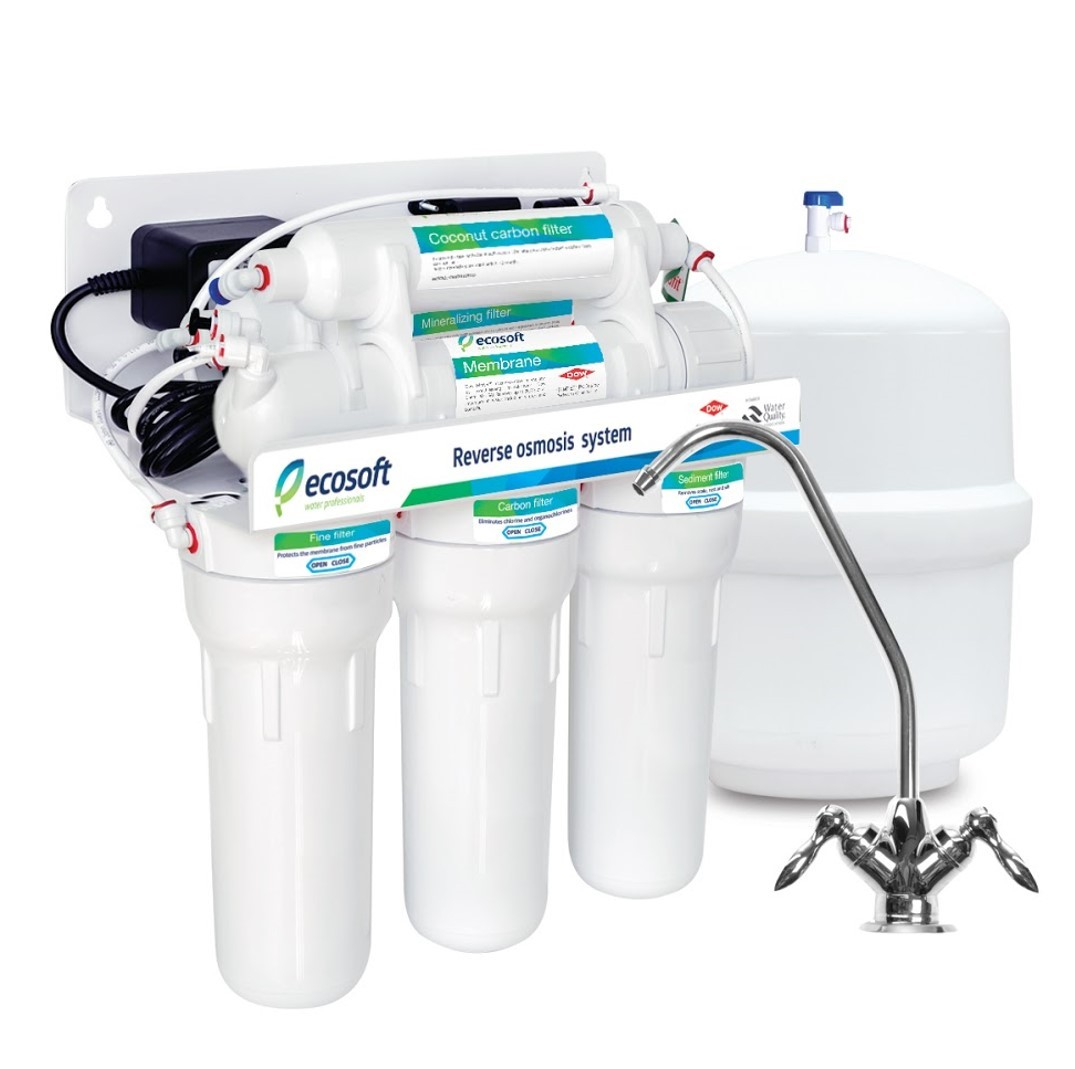 Ecosoft 6 Stage Pumped Reverse Osmosis System With