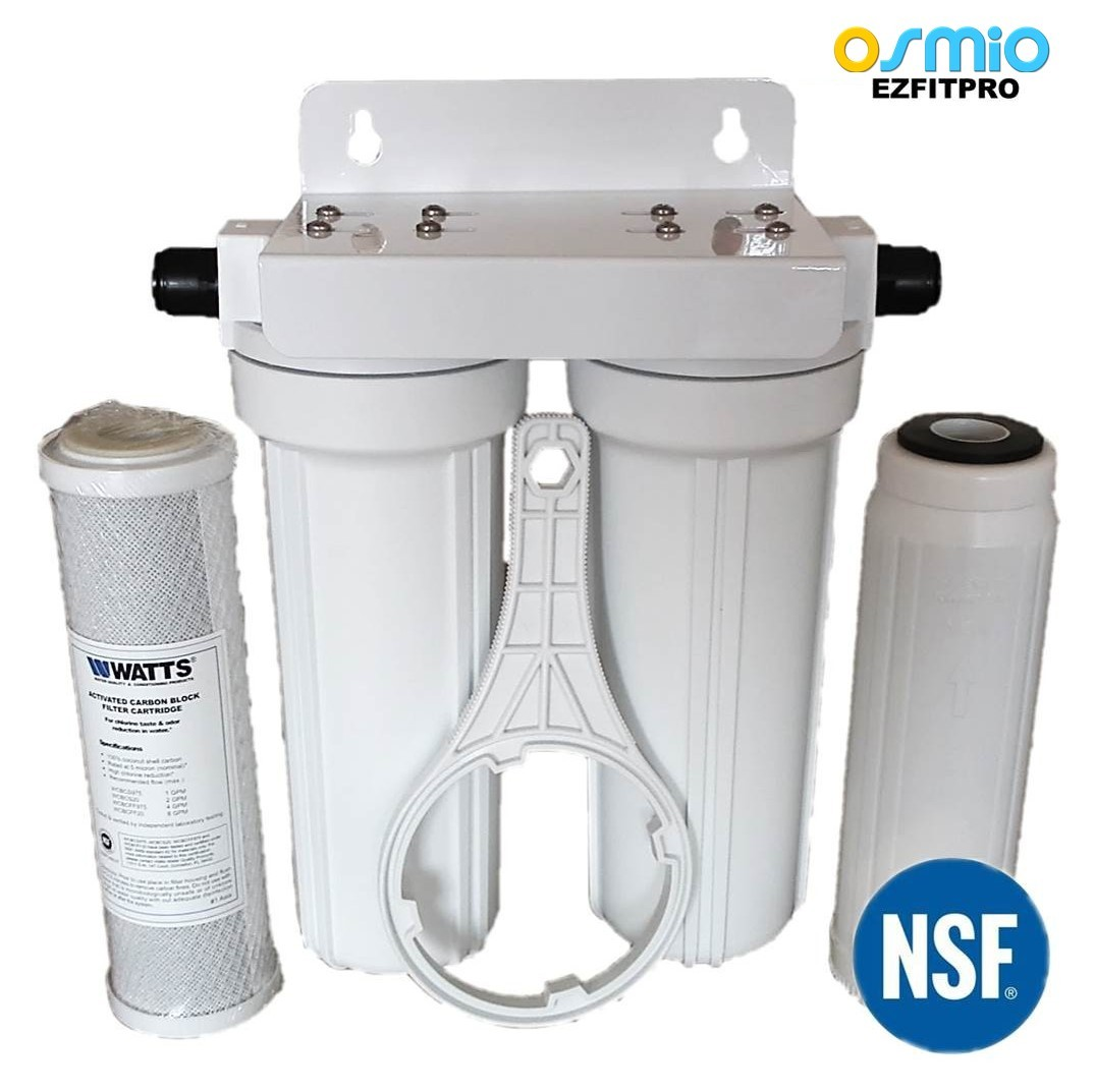 Osmio ezfitpro 200 undersink water filter kit 15mm push fit for Kit filtration