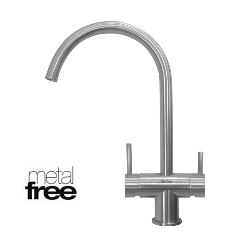 Osmio Inox Brushed Chrome 3 Way Tap (metal