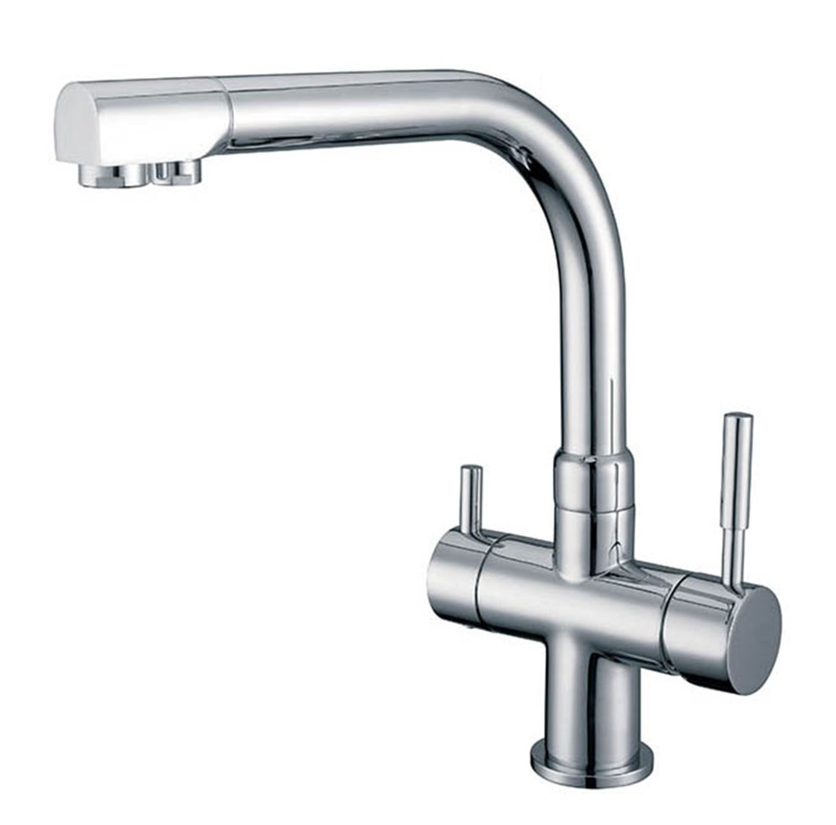 Osmio Alba Chrome 3 Way Tri Flow Kitchen Tap