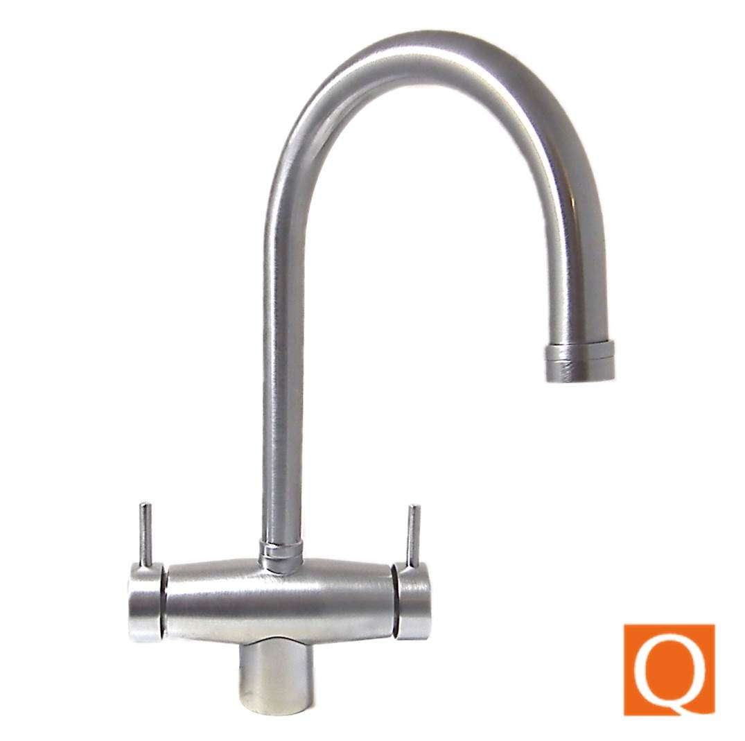 Osmio Sienna Brushed 3 Way Tri Flow Kitchen Tap 3 Way