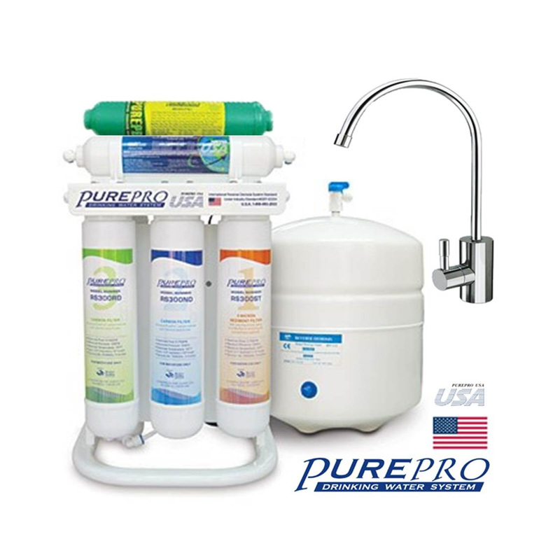 quick change 6 stage reverse osmosis system with alkaline filter