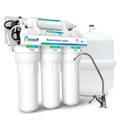 Ecosoft 5 Stage Pumped Reverse Osmosis System Reverse