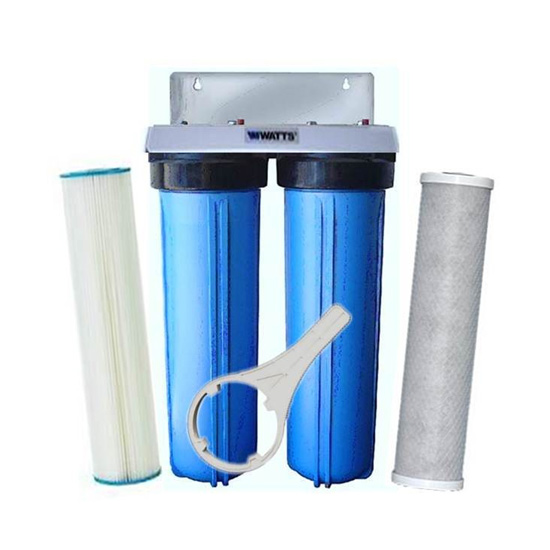 Watts Pro 4.5 x 20 Inch Triple Whole House Water Filter ...
